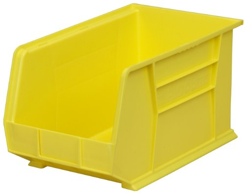 Akro-Mils 30260 Plastic Storage Stacking Hanging Akro Bin, 18-Inch by 11-Inch by 10-Inch, Yellow, Case of 6