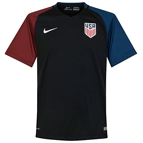 Nike United States Away Stadium Soccer Jersey (Small) Black State Nike Football Jersey