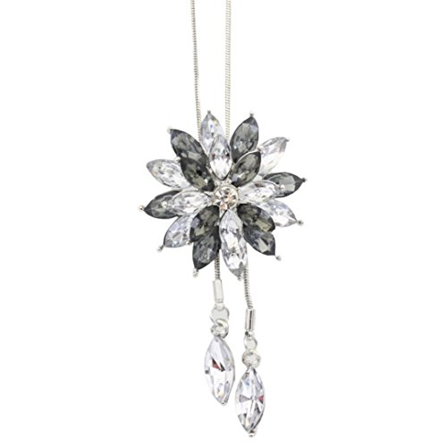 Clearance Deals Fahion Women Charm Bridal Engagement Crystal Rhinestone Snowflake Pendant Necklace Jewelry Gift by ZYooh ()