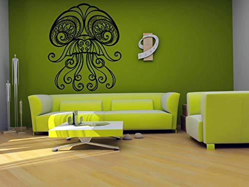 (Tomikko Wall Vinyl Sticker Decals Mural Room Design Art Jellyfis Sea Ocean Decor bo741 | Model DCR - 599)