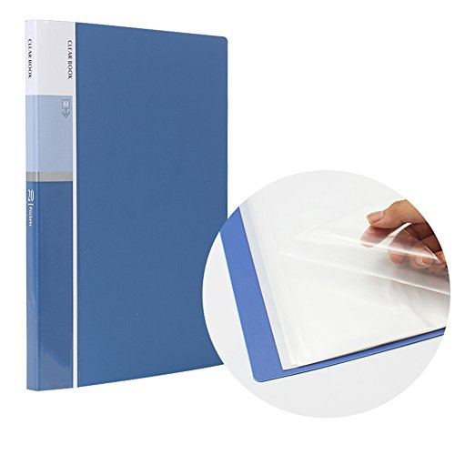 MyLifeUNIT 20 Pocket A4 Presentation Book, 40 Page Capacity Business Presentation Folders, Presentation Book with Sleeves
