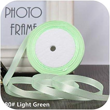 kawayi-桃 25ヤード/ロールグログランサテンリボン結婚式のクリスマスパーティーの装飾6mm-40mm DIY弓クラフトリボンカードギフト-Light Green-10mm