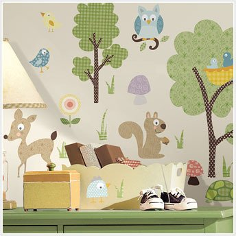 ANIMALS 89 BiG Wall Decals Kids Room Decor Deer Woodland Sti