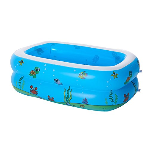 r Family Ocean Inflatable Pool, Large Inflatable Swimming Pool Center Lounge Family Kids Water Play Fun Back Yard Toy,110x90x40CM, for Ages 6+ ,With Repair Package ()