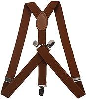 ORSKY Mens Suspenders Adjustable Leather Suspenders for Men Formal Braces