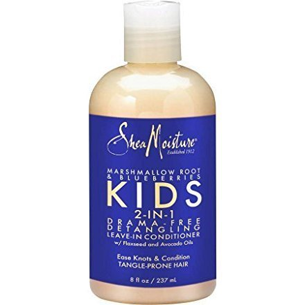 SheaMoisture Marshmallow Root & Blueberries Kids 2-in-1 Detangling Leave-in Conditioner, 8 fl oz