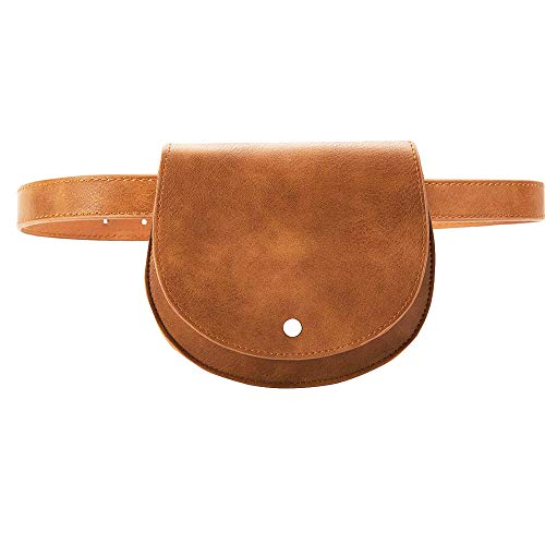 Leather Belt Bag - Women Small Purse Crossbody Bag Saddle Shoulder Bag Satchel Faux Leather Fanny Pack