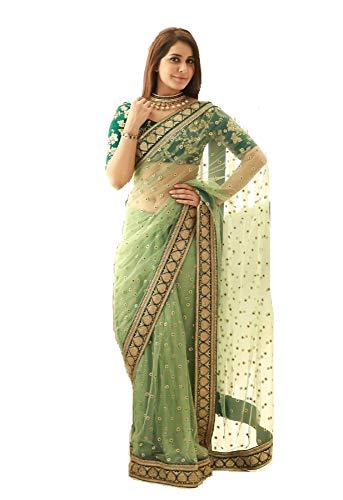 New Delisa Indian Ethnic Bollywood Saree Party Wear Pakistani Designer Sari Wedding, Saree for Womens Saree 7