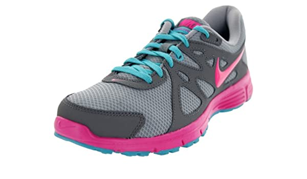 Nike Revolution 2 - Zapatillas de Running para Mujer, Color Gris y Rosa, Multi (Multicolor), 37 EU: Amazon.es: Zapatos y complementos