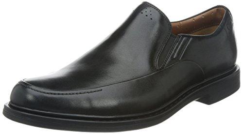 Clarks Mens Drexlar Easy Slip On Loafer Shoe, Black 11.5 W