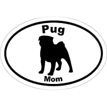 PUG Decal - Pug MOM Vinyl Sticker - Pug Bumper Sticker - Pug Gift - Perfect Pug Mom Gift - MADE IN THE USA