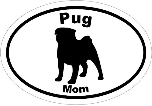 Puggles In Costumes (PUG Decal - Pug MOM Vinyl Sticker - Pug Bumper Sticker - Pug Gift - Perfect Pug Mom Gift - MADE IN THE USA)