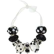 Darice Mix and Mingle Glass Lined Metal Beads, Black and White 2