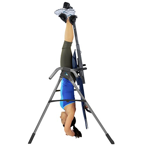 Teeter EP 560 Inversion Table with Back Pain Relief, Blue/Titanium (Certified Refurbished)