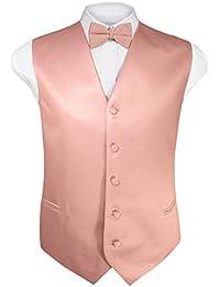 Mens 4pc Tuxedo Vest, Bowtie, Tie, Hanky Set (28 Colors, XS-4XL)