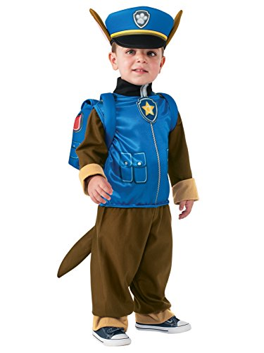 Rubie's Costume Toddler PAW Patrol Chase Costume, X-Small Child Size Paws Dog Halloween Costume