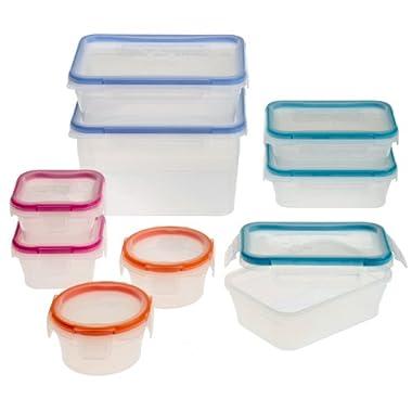 Snapware 18-Piece Total Solution Food Storage Set,  Plastic