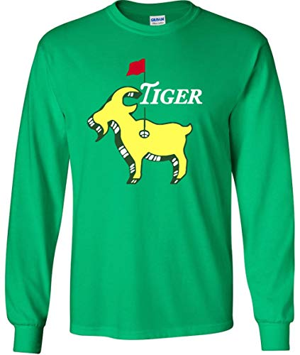 Long Sleeve Green Tiger The Masters Champion Goat T-Shirt Adult ()