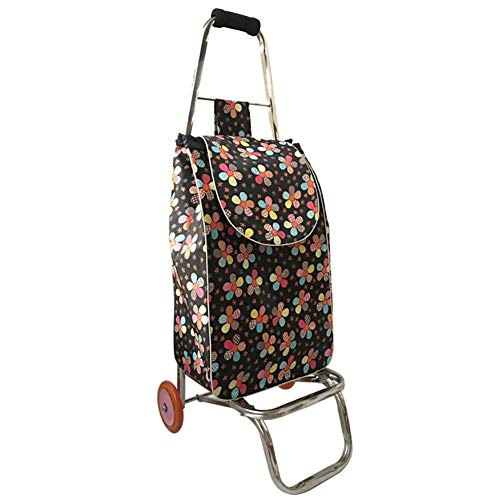 Zehaer Portable Trolley, ZGL Trolley Trolley Stainless Steel 2 Wheels Shopping Cart Groceries Pull Rod Car Portable Luggage Cart Pull Goods Folding Trailer Hand Car by Zehaer (Image #6)