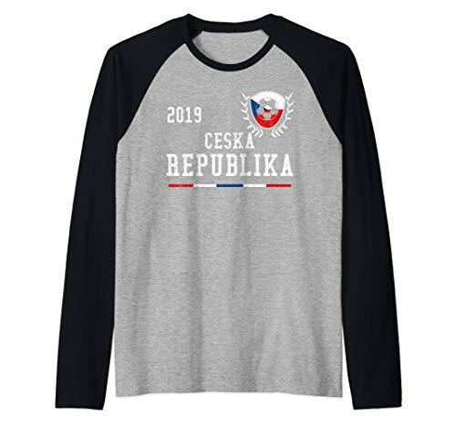 Czech Republic Football Jersey 2019 Czech Soccer Jersey Raglan Baseball Tee