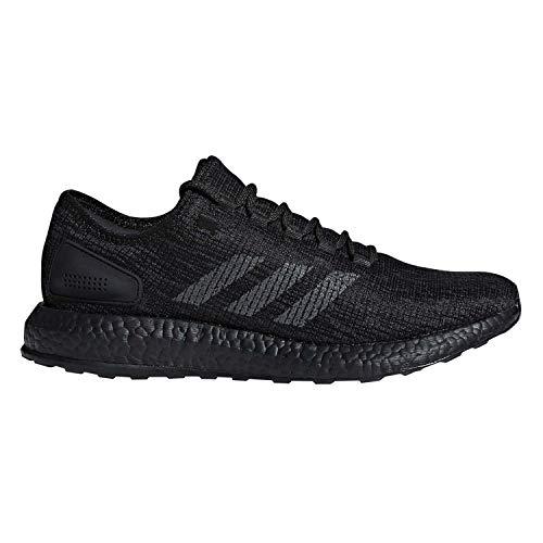 adidas Pureboost Black/Dark Grey Running Shoes 7.5