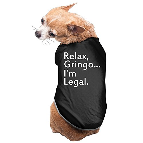 Elnory Relax, Gringo... I'm Legal - Funny Mexican, Latino, Spanish Immigrant Pet Shirt Dog Cat Costume L