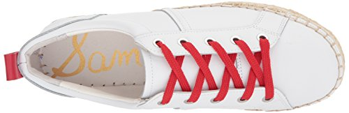 Sneaker Sam Edelman Womens Carleigh Super White / Candy Red