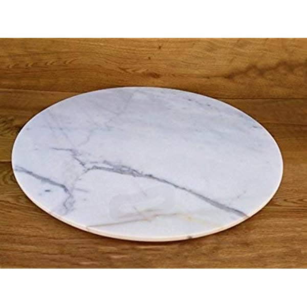 Marble Lazy Susan Turntable Rotating Tray Dining Table Centerpiece Serving Plate Large 22 Inch Handmade