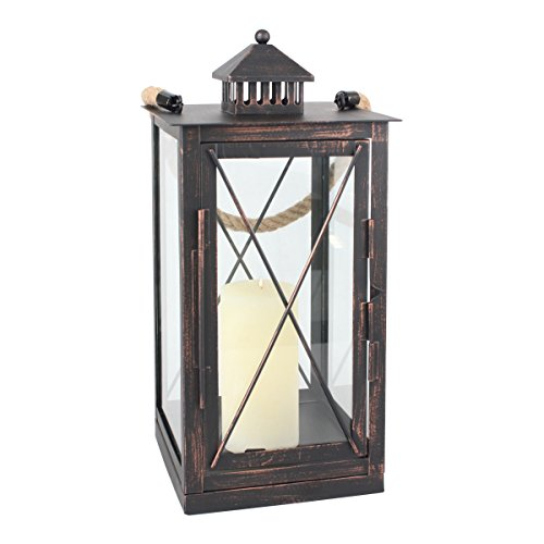 - Stonebriar Decorative Oil Rubbed Bronze Metal Candle Lantern, Use As Decoration for Birthday Parties, a Rustic Wedding Centerpiece, or Create a Relaxing Spa Setting, For Indoor or Outdoor Use