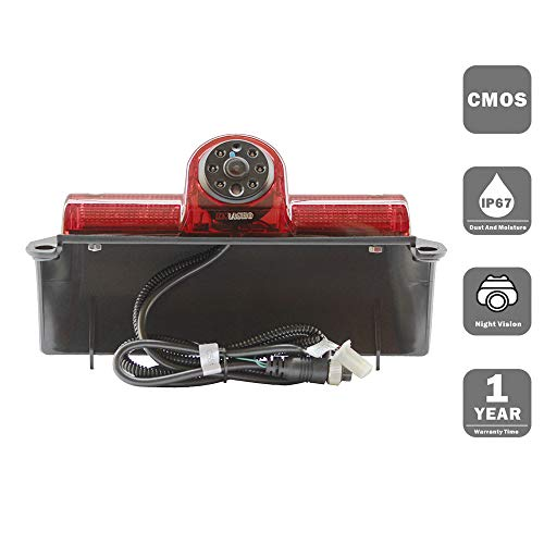 KNRAGHO Chevrolet Camera,Third Brake Light Placement Camera for Chevrolet Express GMC Savana Cargo Van (Without Monitor) ()