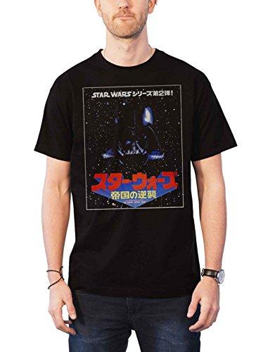 Star Wars T Shirt The Saga Continues Japanese Movie Logo Official Mens Black