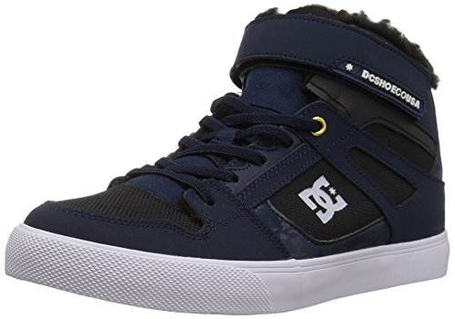 DC Boys' Spartan HIGH WNT EV Skate Shoe, Navy/Black, 12 M US Little Kid (Kids Shoes Dc)