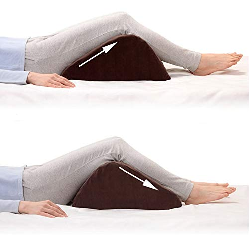 TOPARCHERY Professional Bed Wedge Elevated Leg Pillow, Supportive Foam Therapy Wedge Lumbar Pillow Help Reduce Back Pain Post Surgery and Injury