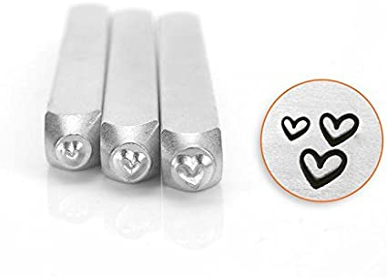 ImpressArt Whimsy Heart Metal Design Stamp 3mm