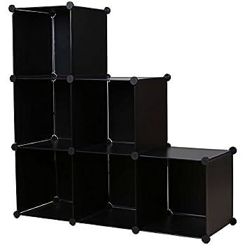 Nice Cu0026AHOME DIY Stair Shape Bookcase 6 Cube Storage Closet Organizer Toy Rack  Shoe Case Shelf
