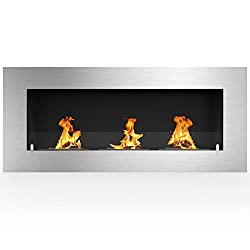 "Regal Flame Warren 50"" PRO Ventless Built In Wall Recessed Bio Ethanol Wall Mounted Fireplace Similar Electric Fireplaces, Gas Logs, Fireplace Inserts, Log Sets, Gas Fireplaces, Space Heaters, Propane by Regal Flame"
