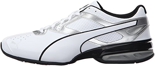 PUMA Men's Tazon 6 FM Puma White/ Puma Silver Running Shoe - 7.5 D(M) US by PUMA (Image #5)