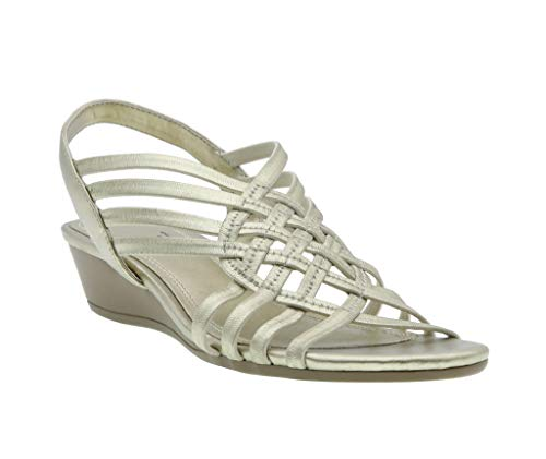 - Refresh Stretch Wedge Sandal, Champagne Elastic/Pearlized, 10 B(M) US