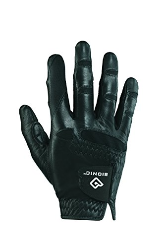 Bionic GGNBMRM Men s StableGrip with Natural Fit Black Golf Glove, Right Hand, Medium