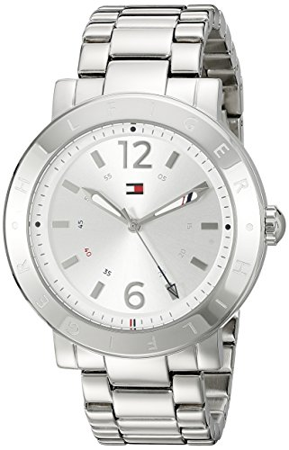 Tommy Hilfiger Women's 1781618 Casual Sport Analog Display Quartz Silver Watch