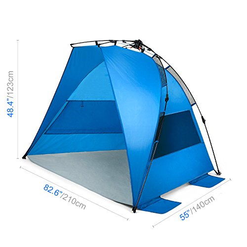quality design bb80a 1441b Amazon.com: Easy Up Beach Tent and Deluxe XL Sun Shelter ...