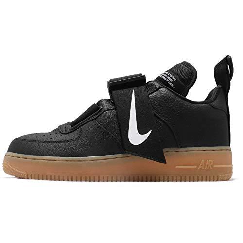 Nike Air Force 1 Utility Unisex/Men's Shoes Black/White/Gum-Medium Brown ao1531-002 (13 D(M) US)