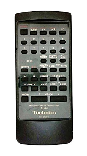 Technics RAK-SA301P Audio System Remote Control for P46810V, SAG300, SAGX100, SAGX100LEB, SAGX100PCK, SAGX300, SBA31, SCD320, SCS110, SCS210, SDS110, SDS210, SUD50, SUG50 (Technics Audio)