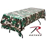 "Camouflage Plastic Tablecloth 54"" x 108"""