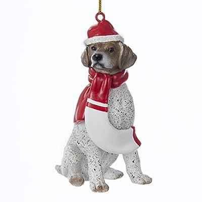 Kurt-Adler-39-Resin-Christmas-German-Shorthaired-Pointer-Ornament