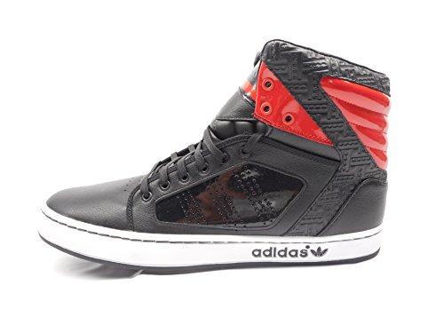 Adidas Hoge Adidas-schoenen Retro-sneakers Zwart Rood-wit (12 M)