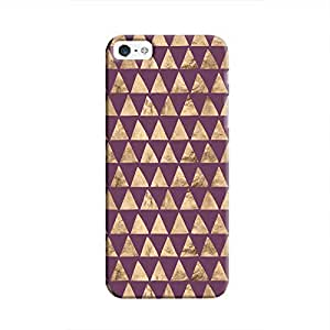 Cover It Up - Brown Purple Triangle Tile iPhone 5c Hard Case