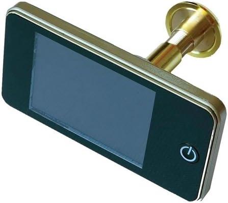 Mirilla electrónica digital–Resolución 1,3MP–Ángulo de visión 120°–dorado