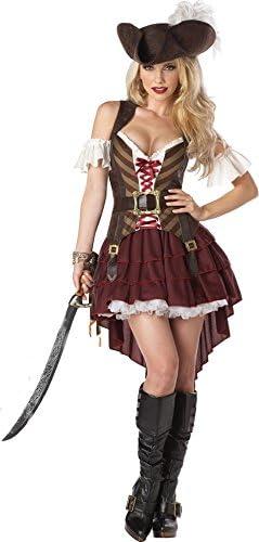 KULTFAKTOR GmbH - Disfraz Steampunk de pirata sexy, color marrón ...