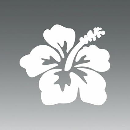 Amazon 2x hibiscus flower hawaii white sticker decal 2x hibiscus flower hawaii white sticker decal die cut mightylinksfo